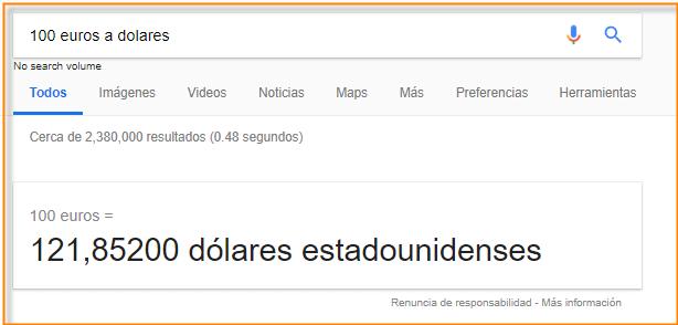 convertir con google