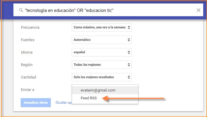 feed en google alerts