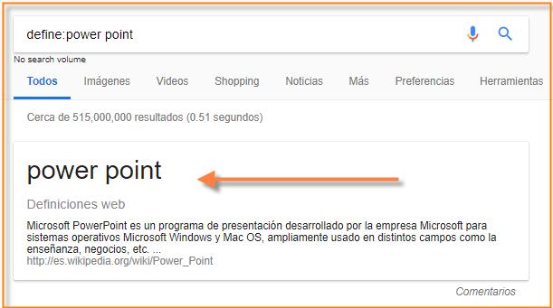 google define