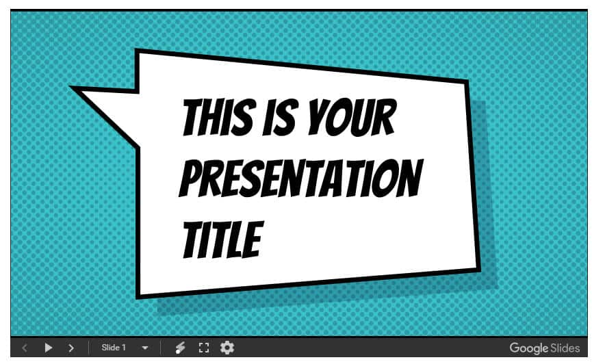 plantilla powerpoint comic