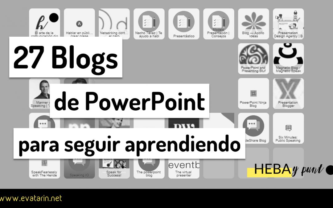 27 Blogs para aprender PowerPoint