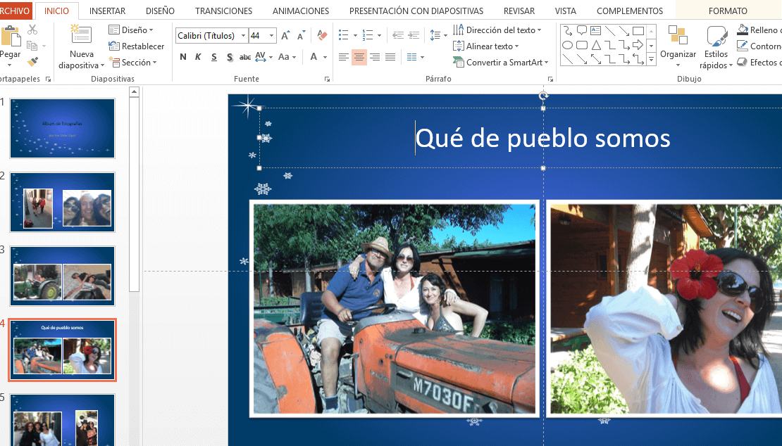 fotografias en power point