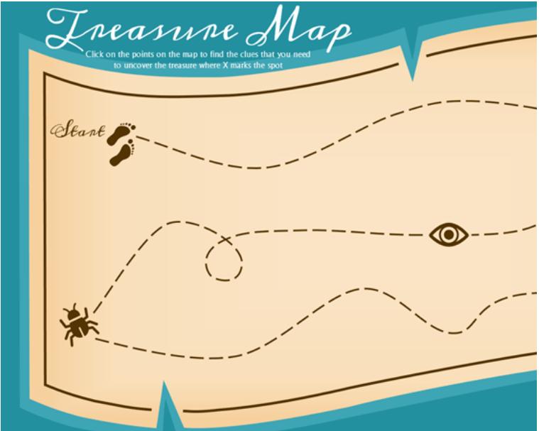 Plantilla de powerpoint para hacer un mapa del tesoro