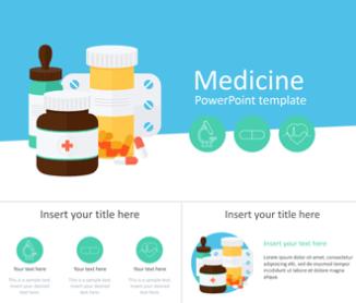 Plantilla con ilustraciones de medicación