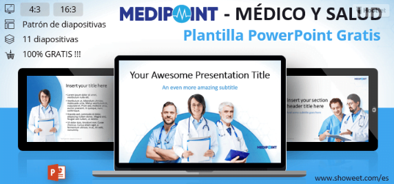 Plantilla médica con ilustraciones