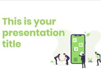 Plantilla de PowerPoint con ilustraciones de trabajo en equipo