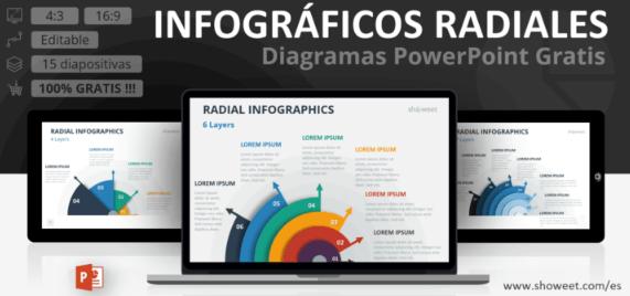Plantilla de infográficos radiales