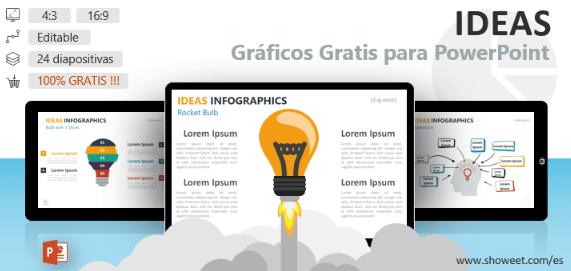 Plantilla ppt con gráficos para infografía