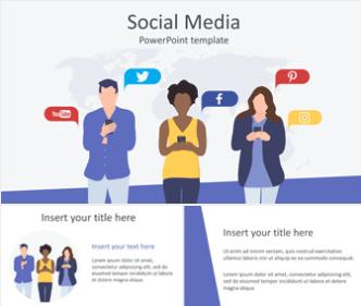 Plantilla powerpoint de social media