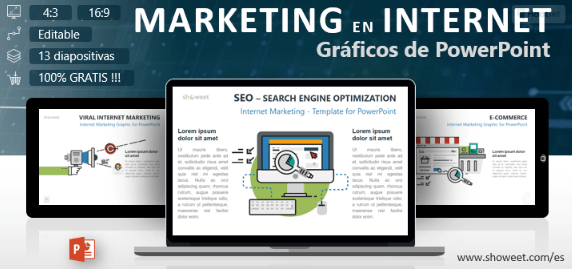 Plantilla ppt para Marketing en Internet