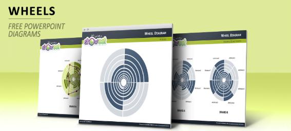 Plantilla de Power Point con diagramas de rueda