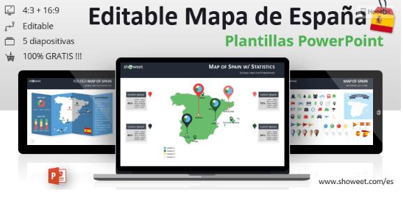 Plantilla ppt con mapas de España