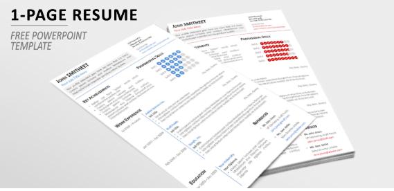 Plantilla de curriculum minimalista en PowerPoint