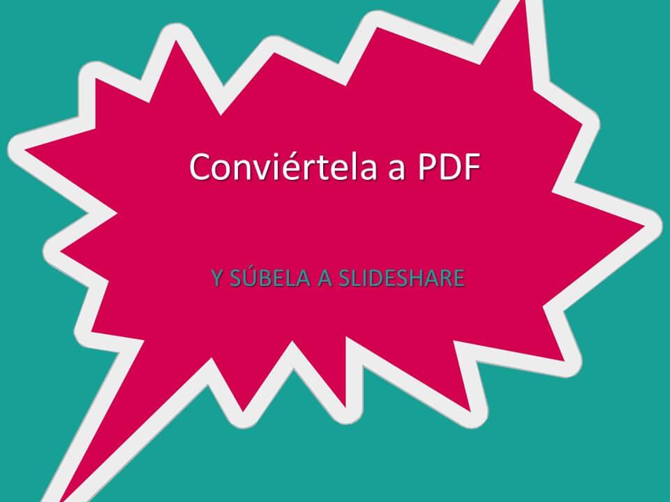 convertir powerpoint en pdf