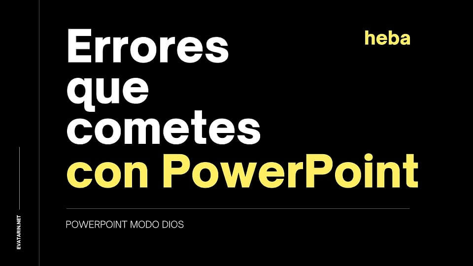 ERRORES POWERPOINT