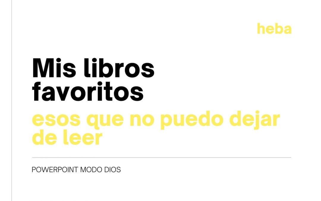 Libros que no puedes dejar de leer